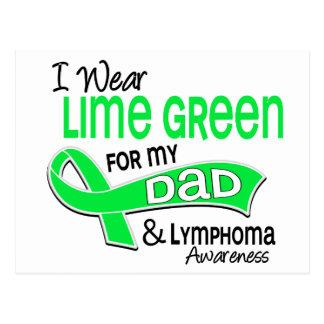 I Wear Lime Green 42 Dad Lymphoma Postcard