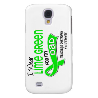 I Wear Lime Green 42 Dad Muscular Dystrophy Galaxy S4 Cover