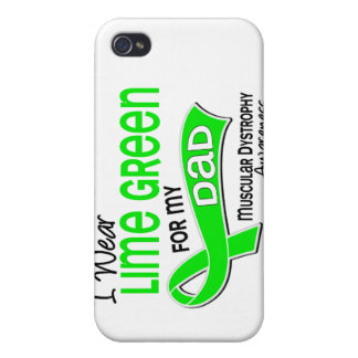 I Wear Lime Green 42 Dad Muscular Dystrophy Case For iPhone 4