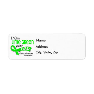 I Wear Lime Green 42 Dad Muscular Dystrophy Return Address Labels