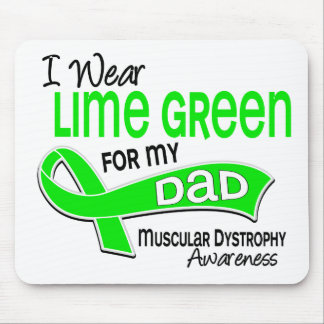 I Wear Lime Green 42 Dad Muscular Dystrophy Mouse Pad