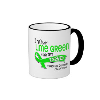 I Wear Lime Green 42 Dad Muscular Dystrophy Coffee Mugs