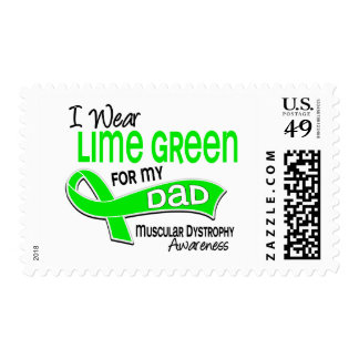 I Wear Lime Green 42 Dad Muscular Dystrophy Stamp