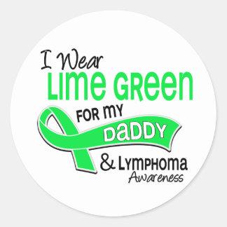 I Wear Lime Green 42 Daddy Lymphoma Classic Round Sticker
