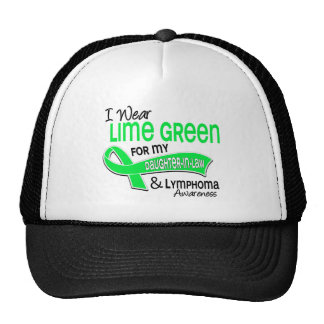 I Wear Lime Green 42 Daughter-In-Law Lymphoma Trucker Hats