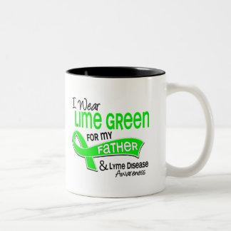 I Wear Lime Green 42 Father Lyme Disease Two-Tone Coffee Mug