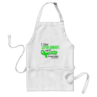 I Wear Lime Green 42 Father Muscular Dystrophy Apron