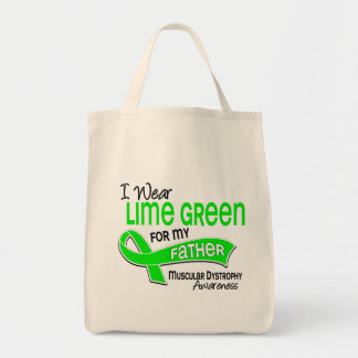 I Wear Lime Green 42 Father Muscular Dystrophy Bags