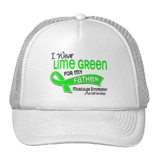 I Wear Lime Green 42 Father Muscular Dystrophy Mesh Hats