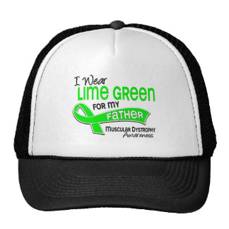 I Wear Lime Green 42 Father Muscular Dystrophy Mesh Hat