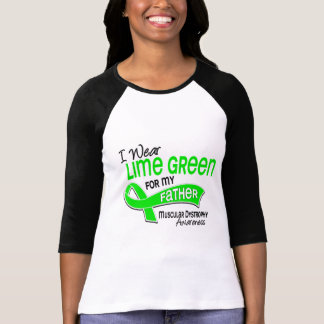 I Wear Lime Green 42 Father Muscular Dystrophy Tee Shirt