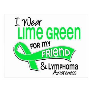 I Wear Lime Green 42 Friend Lymphoma Postcard