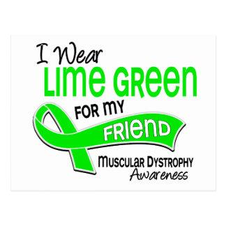I Wear Lime Green 42 Friend Muscular Dystrophy Postcard