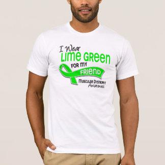 I Wear Lime Green 42 Friend Muscular Dystrophy T-Shirt