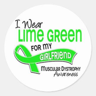 I Wear Lime Green 42 Girlfriend Muscular Dystrophy Classic Round Sticker