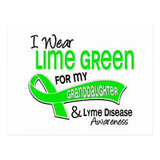 I Wear Lime Green 42 Granddaughter Lyme Disease Postcard