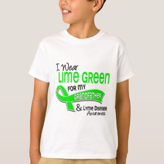 I Wear Lime Green 42 Grandfather Lyme Disease T-Shirt