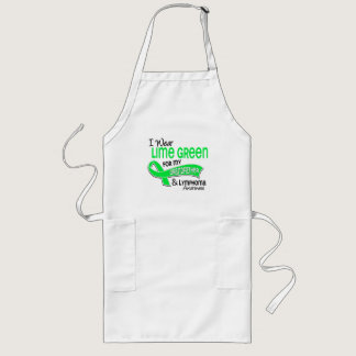 I Wear Lime Green 42 Grandfather Lymphoma Long Apron