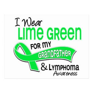 I Wear Lime Green 42 Grandfather Lymphoma Postcard