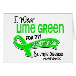 I Wear Lime Green 42 Grandmother Lyme Disease Card