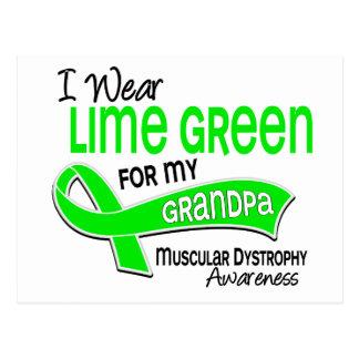 I Wear Lime Green 42 Grandpa Muscular Dystrophy Postcard