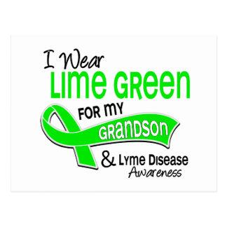 I Wear Lime Green 42 Grandson Lyme Disease Postcard