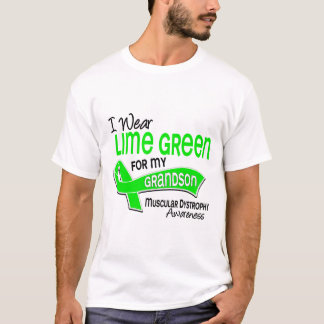 I Wear Lime Green 42 Grandson Muscular Dystrophy T-Shirt