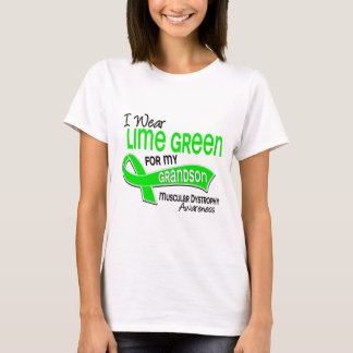I Wear Lime Green 42 Grandson Muscular Dystrophy T-Shirt