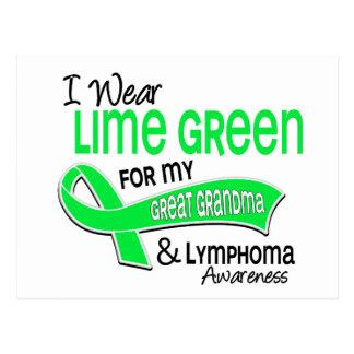 I Wear Lime Green 42 Great Grandma Lymphoma Postcard