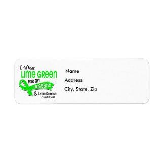 I Wear Lime Green 42 Husband Lyme Disease Label
