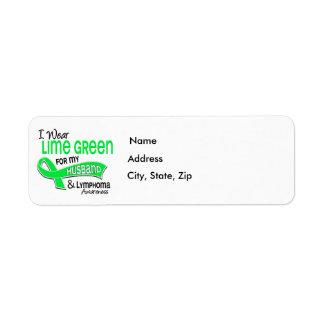 I Wear Lime Green 42 Husband Lymphoma Label