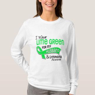 I Wear Lime Green 42 Husband Lymphoma T-Shirt