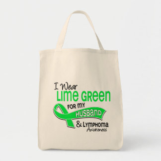 I Wear Lime Green 42 Husband Lymphoma Tote Bag