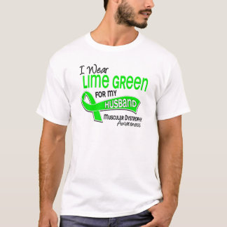 I Wear Lime Green 42 Husband Muscular Dystrophy T-Shirt