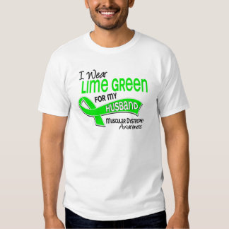 I Wear Lime Green 42 Husband Muscular Dystrophy Tee Shirts