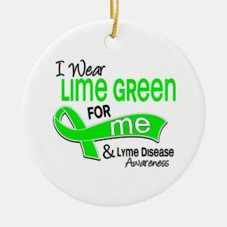 I Wear Lime Green 42 Me Lyme Disease Ornament