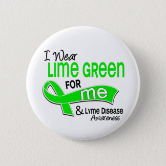 I Wear Lime Green 42 Me Lyme Disease Pinback Button