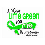 I Wear Lime Green 42 Me Lyme Disease Post Cards