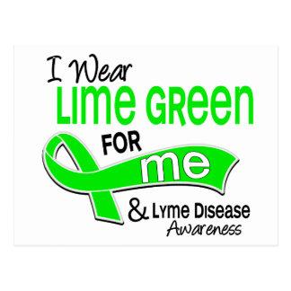 I Wear Lime Green 42 Me Lyme Disease Postcard