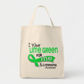 I Wear Lime Green 42 Me Lymphoma Grocery Tote Bag