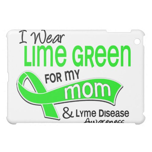 I Wear Lime Green 42 Mom Lyme Disease Cover For The iPad Mini