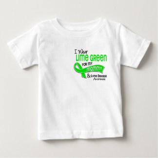 I Wear Lime Green 42 Mommy Lyme Disease Baby T-Shirt