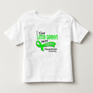 I Wear Lime Green 42 Mommy Muscular Dystrophy Toddler T-shirt