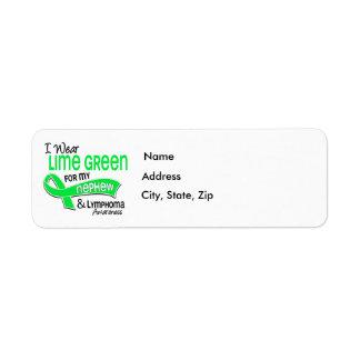 I Wear Lime Green 42 Nephew Lymphoma Label