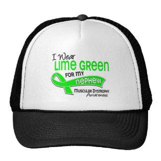 I Wear Lime Green 42 Nephew Muscular Dystrophy Hat