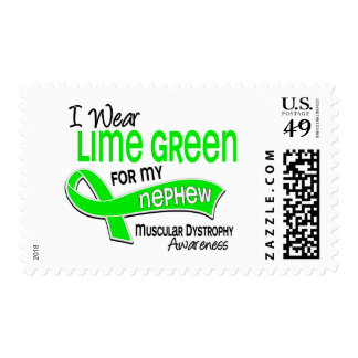 I Wear Lime Green 42 Nephew Muscular Dystrophy Postage Stamps