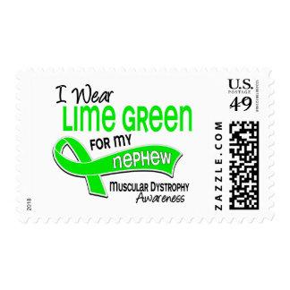 I Wear Lime Green 42 Nephew Muscular Dystrophy Stamp