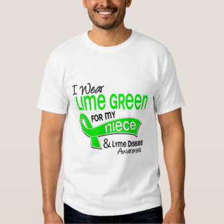 I Wear Lime Green 42 Niece Lyme Disease Tees
