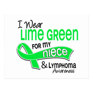 I Wear Lime Green 42 Niece Lymphoma Postcard