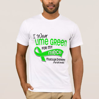 I Wear Lime Green 42 Niece Muscular Dystrophy T-Shirt